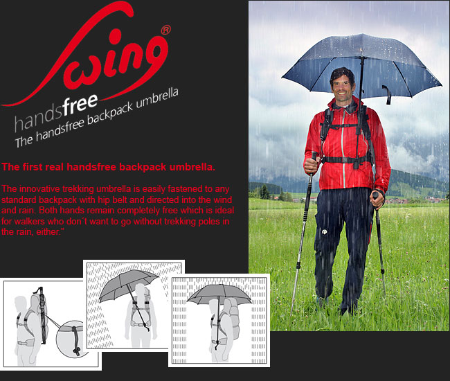 Swing Handsfree The First Real Handsfree Backpack Umbrella